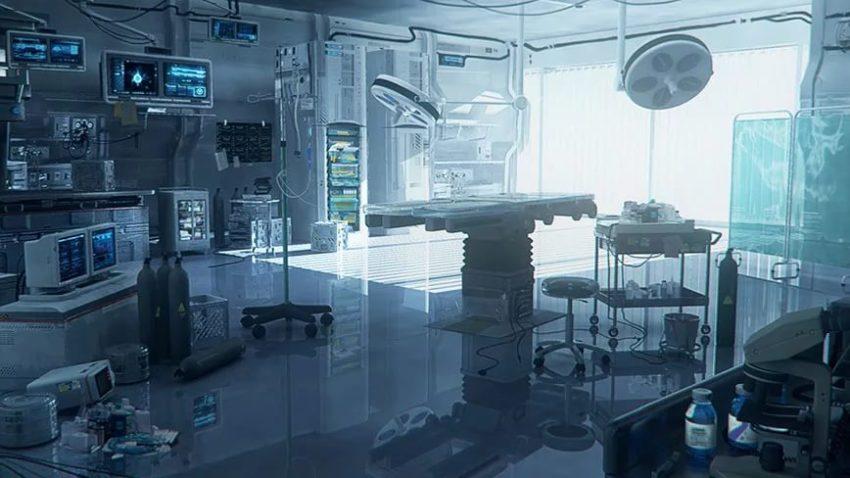 пустая лаборатория